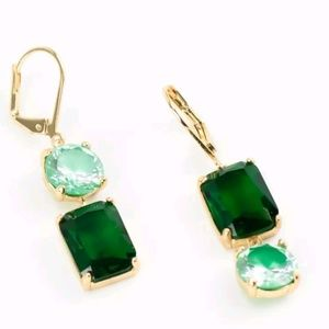 Kate Spade Emerald/Mint Green Mismatched Earring